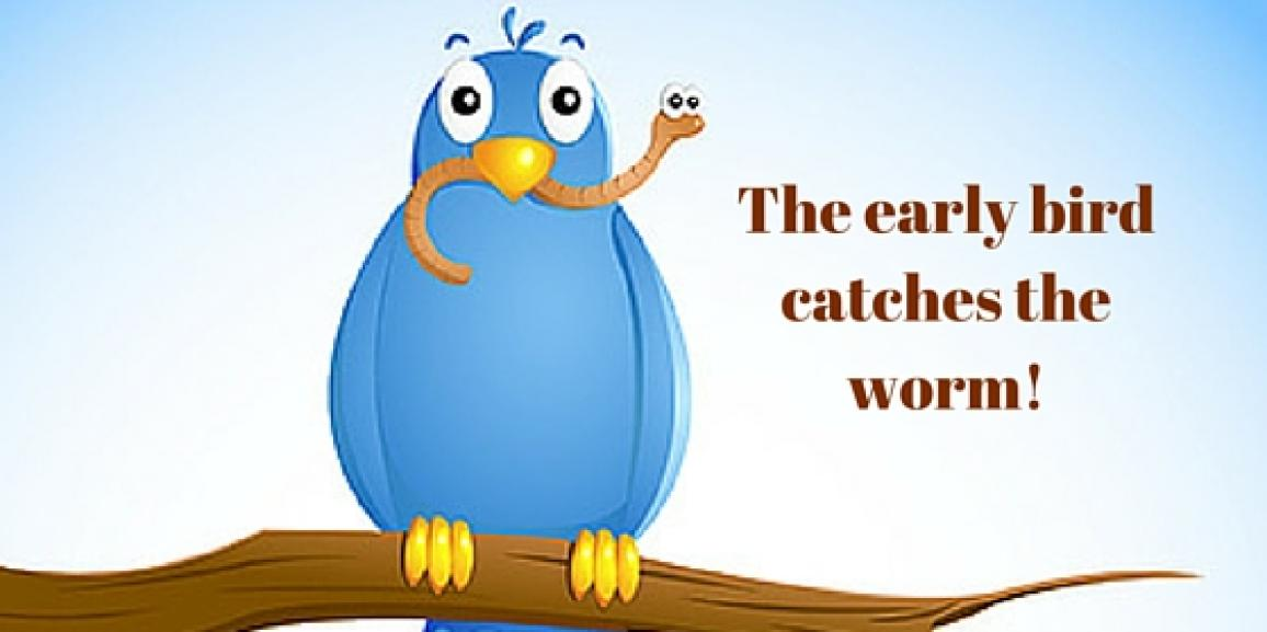 The early bird catches the worm – proverb